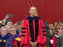 贝拉克・奥巴马总统讲话在250th周年罗格斯大学开始 图库摄影