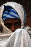 拉利贝拉,埃塞俄比亚,2009年6月14日:老妇人画象  库存照片