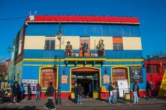 拉博卡五颜六色的房子邻里,布宜诺斯艾利斯,阿根廷 免版税图库摄影