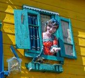 拉博卡neigborhood,布宜诺斯艾利斯,阿根廷 免版税图库摄影