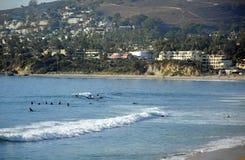拉古纳海滩,加利福尼亚的冲浪的斑点 库存照片