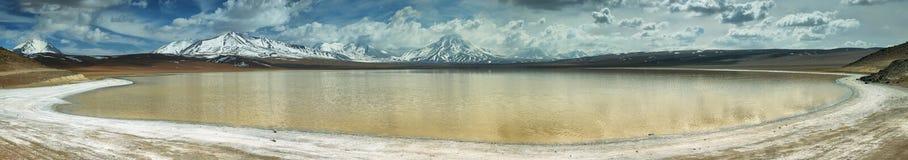 拉古纳lejia (漂白湖)在阿塔卡马地区 免版税库存照片