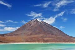 拉古纳licancabur verde火山 免版税库存图片