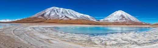 拉古纳Verde,玻利维亚 免版税库存图片