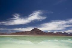拉古纳Verde,玻利维亚 库存照片