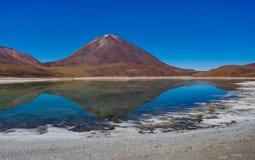 拉古纳Verde Altiplano玻利维亚 库存图片
