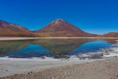 拉古纳Verde Altiplano玻利维亚 库存照片