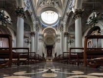 拉古萨大教堂在拉古萨,西西里岛 库存图片