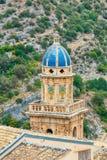 拉古萨Ibla教堂钟塔18世纪镇在西西里岛在意大利 免版税图库摄影