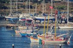 拉各斯口岸在阿尔加威,葡萄牙 免版税库存照片