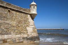 拉各斯堡垒和港口,阿尔加威,葡萄牙 免版税库存照片