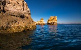 拉各斯洞和海滨 图库摄影