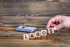 拉各斯,许多数百万人居住的一个城市在尼日利亚 免版税库存照片