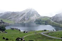 拉各斯de Covadonga 免版税图库摄影