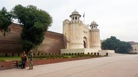 拉合尔堡在巴基斯坦 免版税库存照片