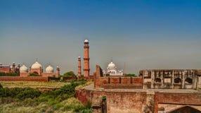 拉合尔堡垒、Badshahi Ranjit辛哈,巴基斯坦清真寺和Samadhi  免版税库存图片