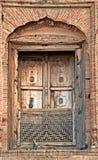 拉合尔堡垒古色古香的窗口  免版税库存照片