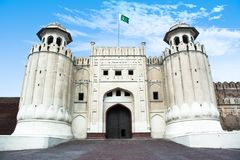 拉合尔堡垒沙赫堡垒沙赫kila拉合尔巴基斯坦 免版税库存照片