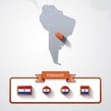 巴拉圭信息卡片 库存例证