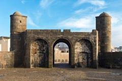 索维拉堡垒,摩洛哥的大西洋海岸 免版税库存照片