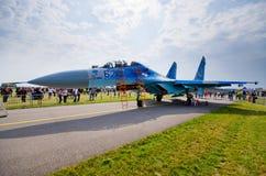 拉多姆的Airshow,波兰Su27 图库摄影