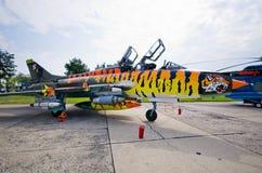 拉多姆的Airshow,波兰Su22M4 库存照片