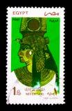 拉姆西斯的女王Nefertari,妻子II,地标、标志和Artwo 库存照片