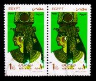 拉姆西斯的女王Nefertari,妻子II,地标、标志和Artwo 库存图片