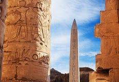 拉姆西斯Obelix II,埃及,古老被破坏的寺庙在卢克索 免版税库存照片
