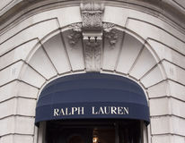 拉尔夫劳伦商店在巴黎 图库摄影