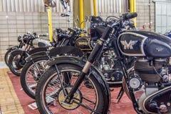巴拉岛BONITA,巴西- 2017年6月17日:葡萄酒摩托车exhibi 免版税库存图片