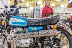 巴拉岛BONITA,巴西- 2017年6月17日:葡萄酒本田摩托车我 免版税图库摄影
