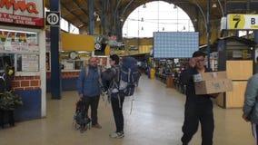 拉巴斯中央汽车站的,玻利维亚售票处 股票录像