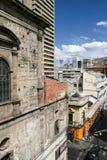 拉巴斯的Bolibian首都,观看从教会旧金山 图库摄影