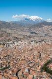 拉巴斯,玻利维亚全景  免版税库存照片