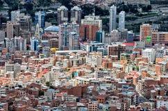 拉巴斯,玻利维亚都市风景  免版税图库摄影