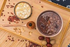 拉巴粥,Babao粥,一个食家盘在中国北部 免版税库存照片