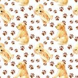 拉布拉多猎犬小狗无缝的样式 向量例证