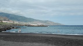 拉帕尔玛岛海滩视图 免版税库存图片