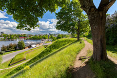 拉彭兰塔,芬兰-城市, Saima湖的中心 库存照片