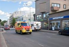 拉彭兰塔 芬兰 救护车汽车欧罗巴德国慕尼黑 免版税图库摄影