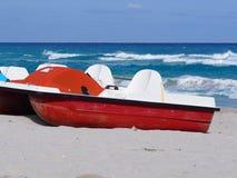 巴拉德罗角古巴小船  库存照片