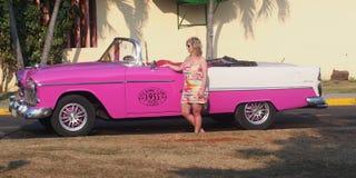 巴拉德罗角古巴汽车  库存图片