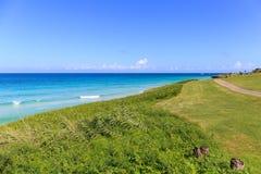 巴拉德罗角海岸线和高尔夫球场  库存图片