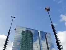 拉德芳斯摩天大楼和信号8085,巴黎,法国, 2012年 图库摄影
