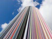 拉德芳斯雕塑雷梦Moretti 8106,巴黎,法国, 2012年 库存照片