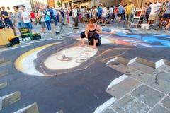费拉拉卖艺人节日2016年,意大利 免版税库存图片