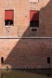 费拉拉有历史的城堡 库存照片