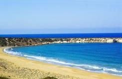 拉拉海湾乌龟保护驻地, Akamas半岛,塞浦路斯 图库摄影