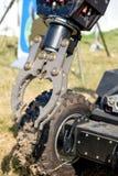 费拉拉,意大利2016年9月16日-炸弹的机械臂 免版税库存图片